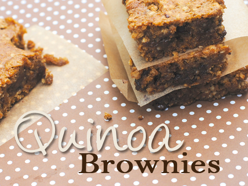Quinoa Brownies – She Let Them Eat Cake.com