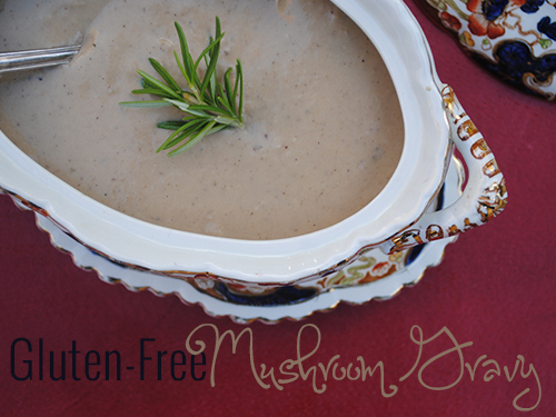 Gluten-Free Mushroom Gravy 2 from She Let Them Eat Cake