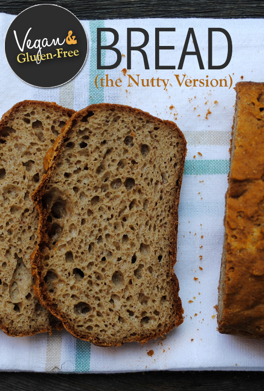 GF & Vegan Bread - The Nutty Version from She Let Them Eat Cake.Com