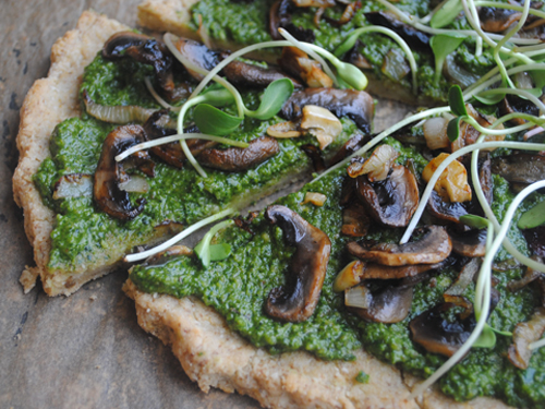Grain-Free Vegan Pizza Crust from She Let Them Eat Cake.Com