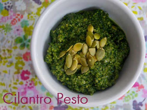 cilantro pesto She Let Them Eat Cake 2