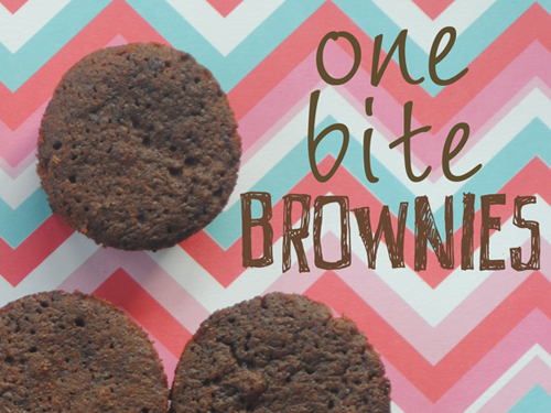 one bite brownies