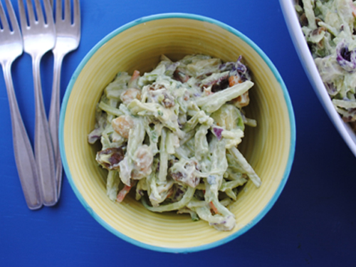 Creamy Avocado Coleslaw from She Let Them Eat Cake 2