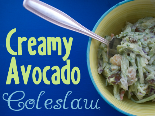 Creamy Avocado Coleslaw from She Let Them Eat Cake