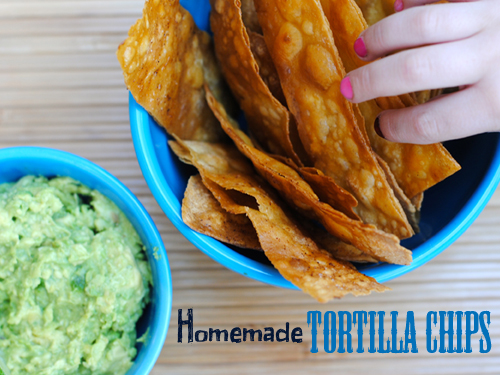 Homemade Tortilla Chips from She Let Them Eat Cake