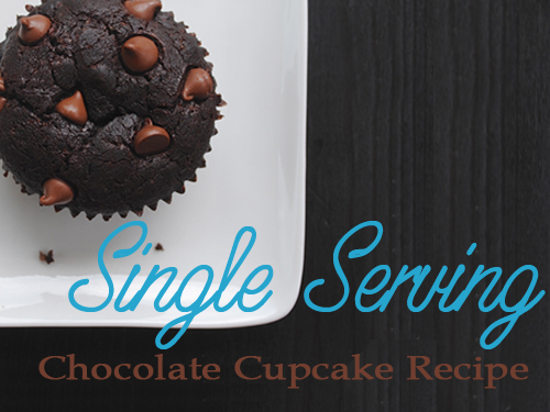 Single Serving Chocolate Cupcake