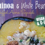 Quinoa and White Bean Stuffed Acorn Squash – Gluten-Free & Vegan