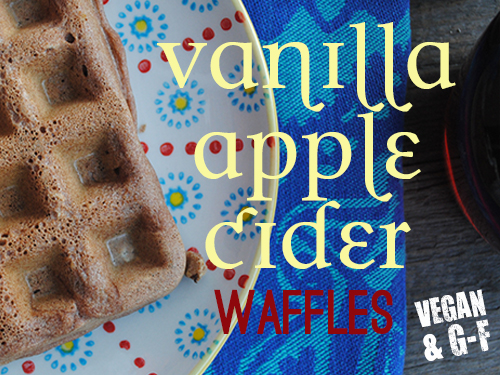 Vanilla Apple Cider Waffles 1