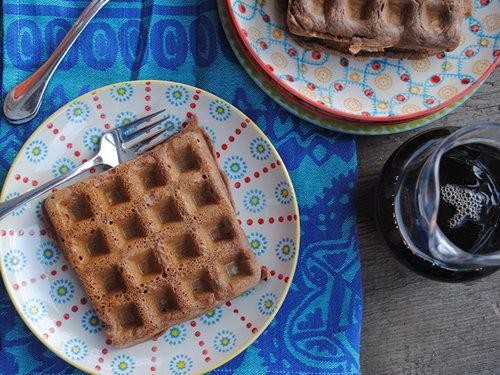 Vanilla Apple Cider Waffles