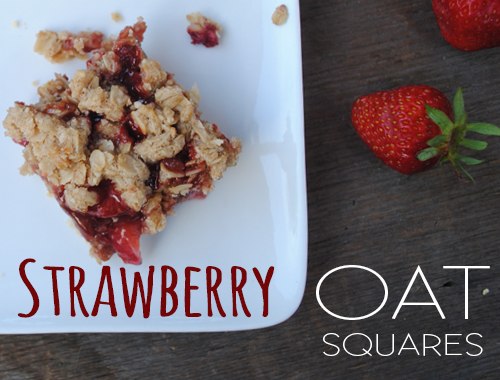 Strawberry Oat Squares from She Let Them Eat Cake.Com