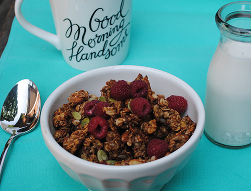 Date-Sweetened Granola from She Let Them Eat Cake.Com #glutenfree # ...