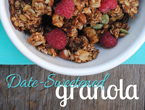 Date-Sweetened Granola from She Let Them Eat Cake.Com #glutenfree #dairyfree
