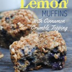 Blueberry Lemon Muffins with Cinnamon Crumble Topping