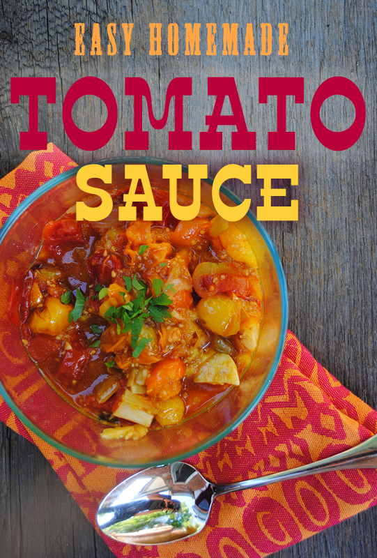Easy Homemade Tomato Sauce from She Let Them Eat Cake.com