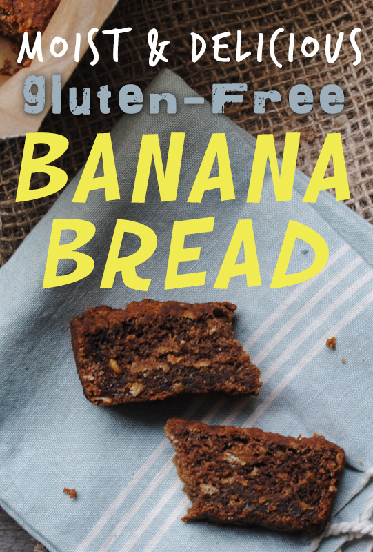 Moist and Delicious Gluten Free Banana Bread from She Let Them Eat Cake #gfree #vegan