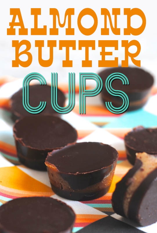 Easy Almond Butter Cups from She Let Them Eat Cake