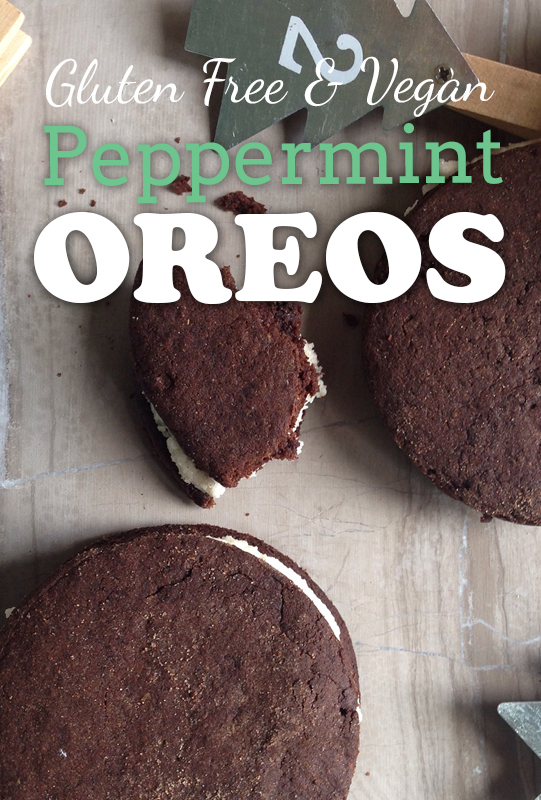 Peppermint Oreos - Gluten-free, dairy-free, egg-free from She Let Them Eat Cake
