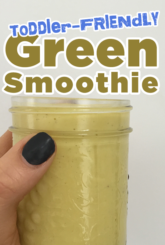 Toddler-Friendly Green Smoothie from She Let Them Eat Cake.com