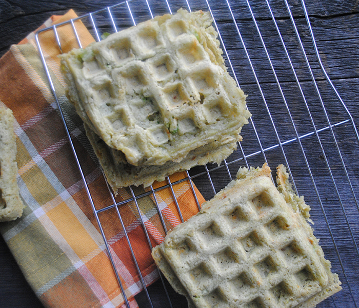 Savory Gluten-Free Waffles – She Let Them Eat Cake.com
